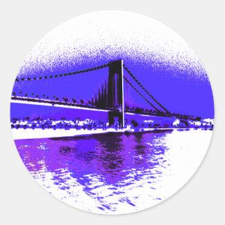 Violet Verrazano Bridge sticker