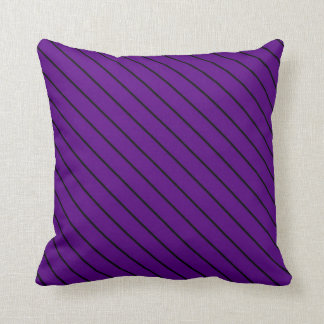 Violet Vintage Stripes Art Design Abstract Throw Pillow