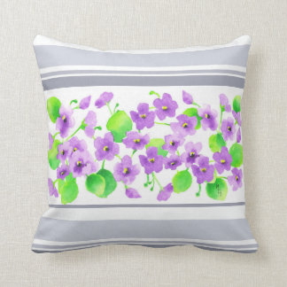 Violet watercolor Decorative Flower Pretty Classic Throw Pillow