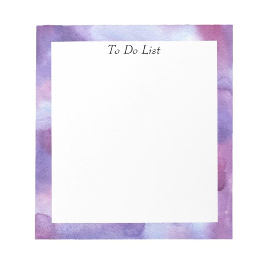 Violet Watercolor Notepad