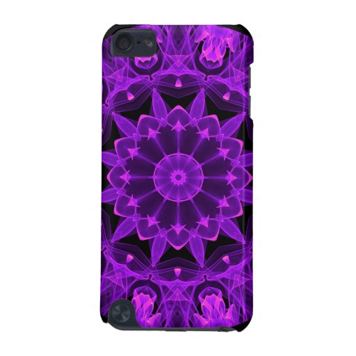 Violet Wheel of Fire Mandala, Abstract Flames iPod Touch 5G Case