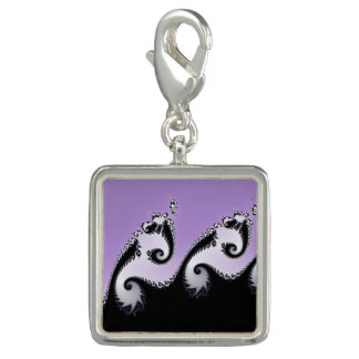 Violet, white and black fractal. charm