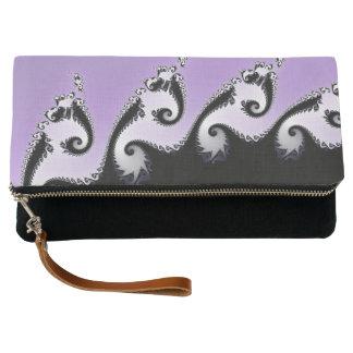 Violet, white and black fractal. clutch