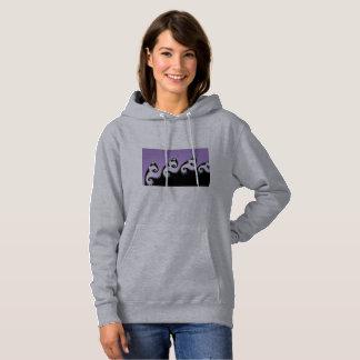 Violet, white and black fractal. hoodie