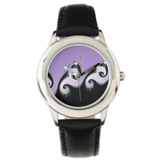 Violet, white and black fractal. watch