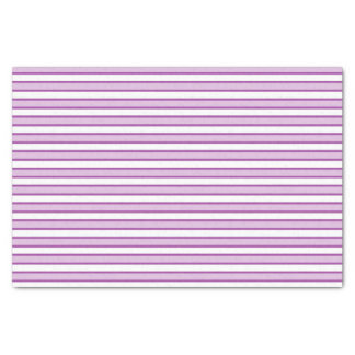 Violet, White and Purple Stripes Tissue Paper