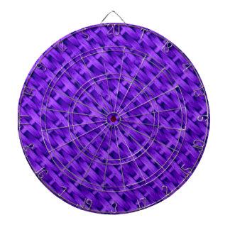 Violet wicker art graphic design dartboard with darts