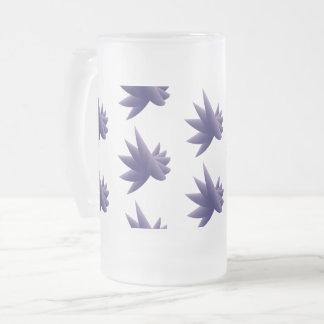 Violet wings nb frosted glass beer mug