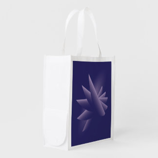 Violet wings reusable grocery bag