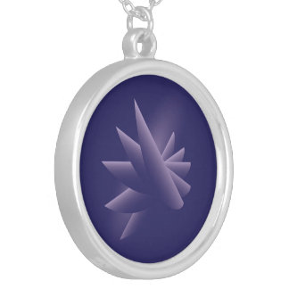 Violet wings silver plated necklace