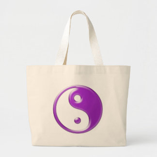 Violet Yin Yang Large Tote Bag