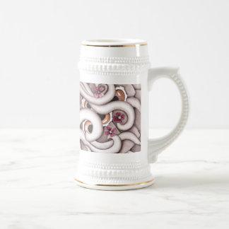 Violets Abstract Design Stein Beer Steins