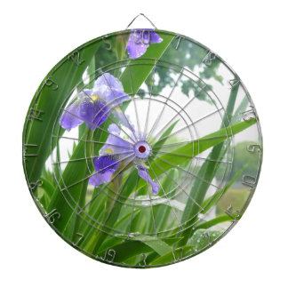 Violets in the Rain Dartboard With Darts