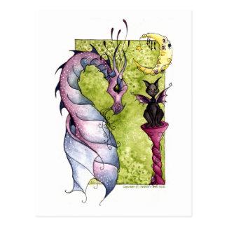 Violette and Obsidian Postcard