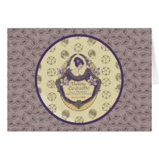 Violette Coquette French Soap Label Card