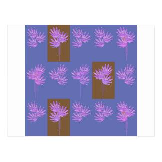 violette florale cartes postales