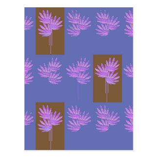violette florale carte postale