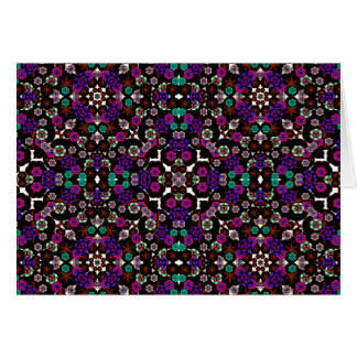 violette florale de motif carte de vœux