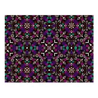 violette florale de motif cartes postales