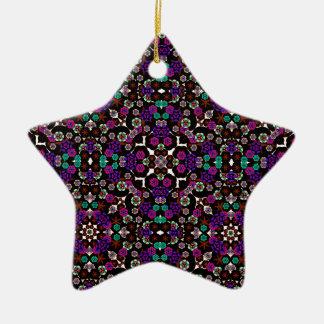 violette florale de motif décoration de noël
