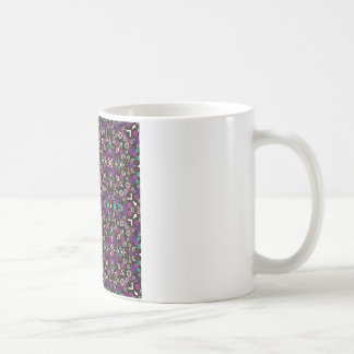 violette florale de motif tasse à café