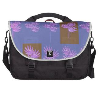 violette florale sacoche pour ordinateur portable