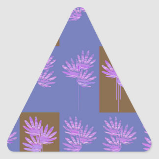 violette florale sticker triangulaire