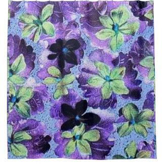 Violettes pourpres vertes florales vintages