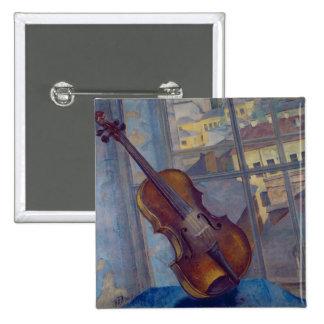 Violin, 1918 2 inch square button