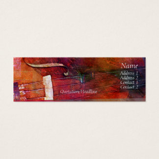 Violin Abstract One Mini Business Card