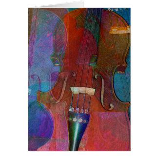 Violin Abstract Two Card