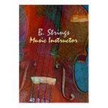 Violin Abstract Two Pack Of Chubby Business Cards