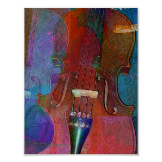 Violin Abstract Two Poster