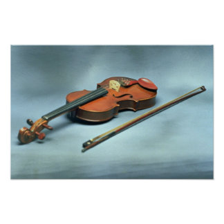 Violin and bow poster
