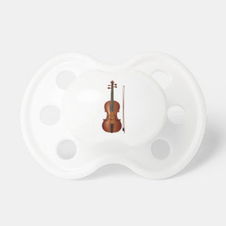 VIolin and bow realistic graphic Baby Pacifiers