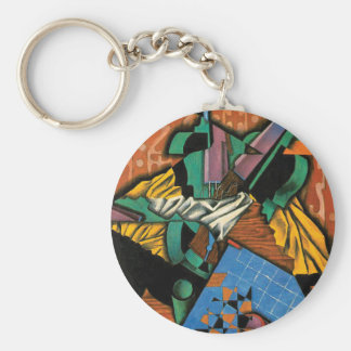Violin and Checkerboard by Juan Gris Keychain