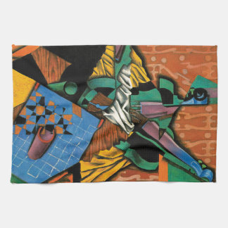 Violin and Checkerboard by Juan Gris Kitchen Towel