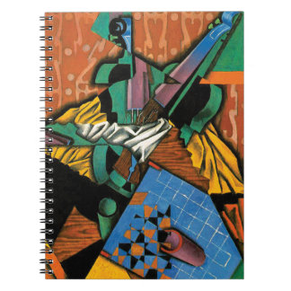 Violin and Checkerboard by Juan Gris Notebook