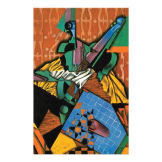 Violin and Checkerboard by Juan Gris Stationery Design