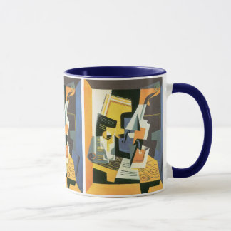 Violin and Glass by Juan Gris, Vintage Cubism Mug