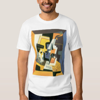 Violin and Glass by Juan Gris, Vintage Cubism T-shirts