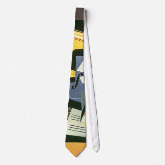 Violin and Glass by Juan Gris, Vintage Cubism Tie
