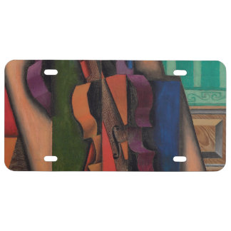 Violin and Guitar by Juan Gris License Plate