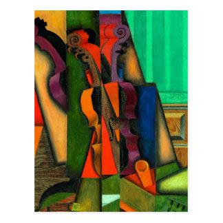 Violin and Guitar by Juan Gris Postcard
