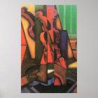 Violin and Guitar by Juan Gris, Vintage Cubism Art Poster