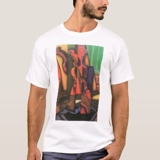 Violin and Guitar by Juan Gris, Vintage Cubism Art T-Shirt