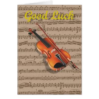 Violin and Music sheet. Card