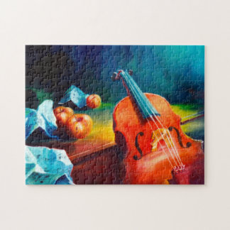 Violin and Notes Painting Puzzle