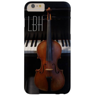 Violin and Piano Keyboard with Custom Monogram Barely There iPhone 6 Plus Case