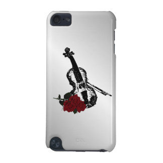 Violin and Roses Silver iPod Touch (5th Generation) Cases